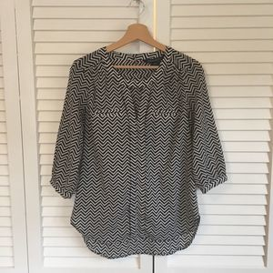 FRENCH CONNECTION Chevron Blouse, 6